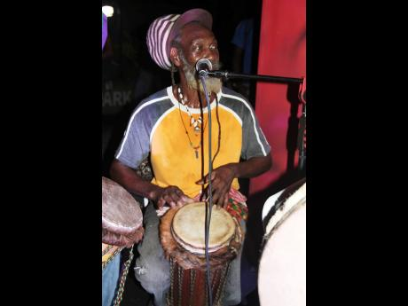 Caught up in the rhythm at the recent Itopia Life launch is King Tebah of the Rastafari Indigenous Village out of Montego Bay.