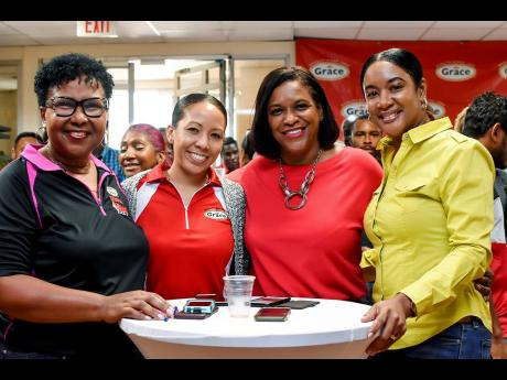 From left: Angeline Gillings, managing director, Grace Foods; Kimberley Lue Lim, global category manager, Grace Foods; Andrea Coy, CEO, Grace Foods International; and Andrea Reynolds, global category manager, fish and meats.