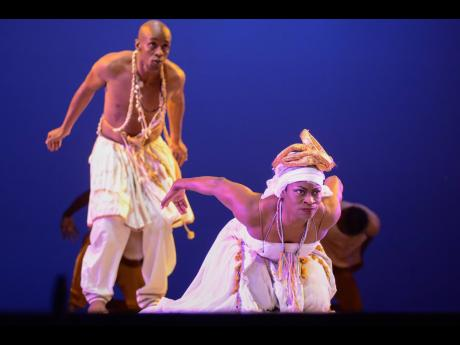Members of the NDTC performing an excerpt of 'Blood Canticles' at A Morning of Music and Movement 2019, held at the Little Theatre.