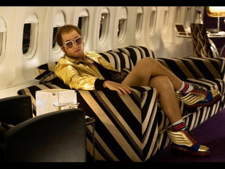 Taron Egerton plays Elton John in a scene from 'Rocketman'.