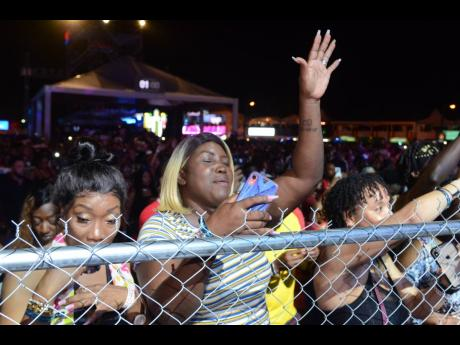 Patrons enjoy a Sumfest performance on the weekend. There are concerns that the festival has outgrown its Catherine Hall home.
