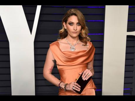 Paris Jackson arrives at the Vanity Fair Oscar Party in Beverly Hills, California, in February this year.