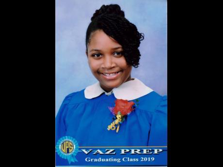 Amanda Levy, Vaz Preparatory School's top female PEP scholar for the year