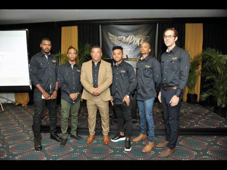 From left: Tristan Grant, Mark Llewellyn, Craig Butler, Kyle Butler, Darien Nairne-Powell and Tyler Fitt, all members of the Empire Entertainment team.
