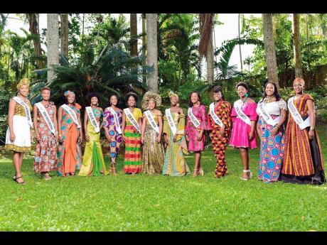 The Miss Jamaica Festival Queen parish queens.