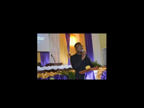 Singer Orale Johnson gives special music during the 75th Anniversary Sabbath celebration.