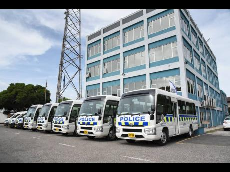 Eight buses acquired for rank and file members of the Jamaica Constabulary Force.