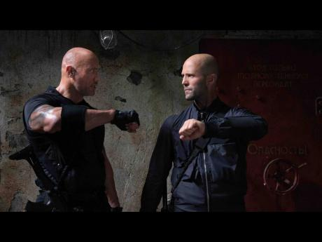 Dwayne Johnson (left) and Jason Statham like you have never seen them before in 'Fast and Furious presents: Hobbs & Shaw'.