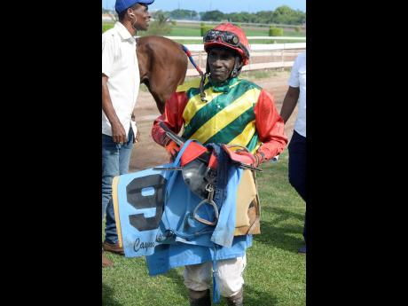 Jockey Shane Ellis is expected to ride SPARKLE DIAMOND to a win today at Caymanas Park.