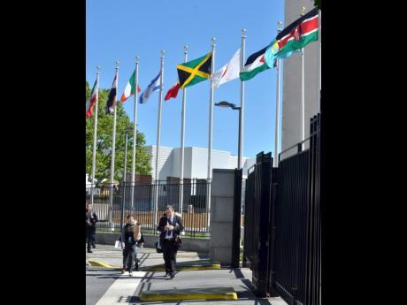 The UN building in New York.
