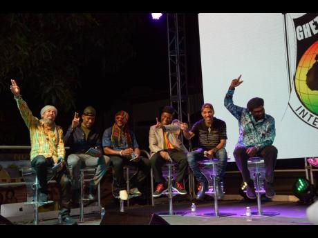 Veteran reggae group Third World at the listening party for their album, 'More Work To Be Done', at the Bob Marley Museum in Kingston last Thursday.
