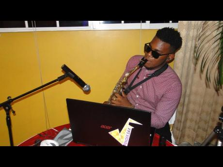 Saxophonist Deshaun Fender was superb with his rendition as patrons dined.