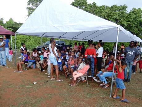 Part of the turnout at the Exchange SDA health and social fair in Exchange, Ocho Rios.