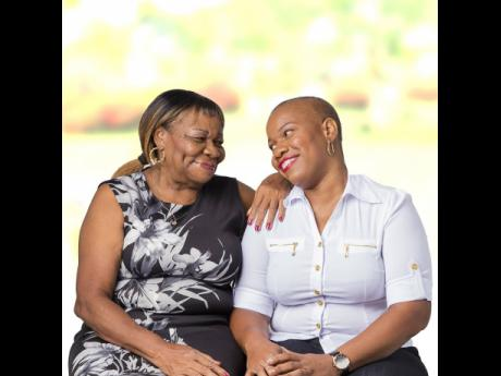 Michelle Robinson (right), breast cancer warrior, and her mother, Catherine Knight.