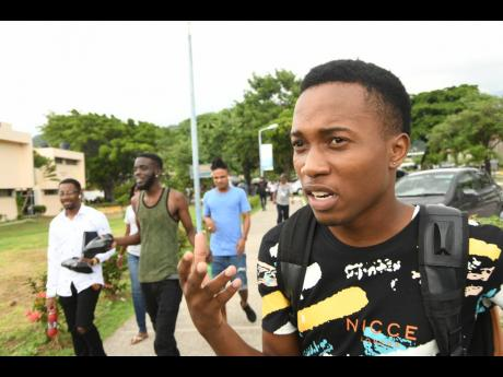 Kasey Robinson is lamentingstrike action by lecturers at the University of Technology, Jamaica is affecting his studies.