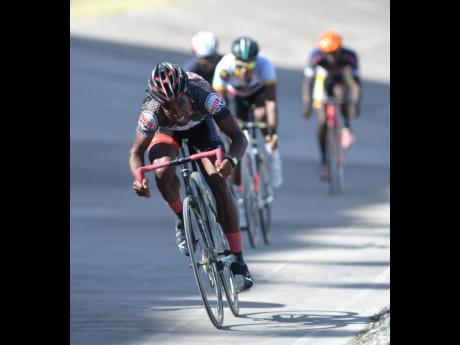 Oshane Williams wins the elite 1 and 2 tempo race at the Jamaica Cycling development meet one, held at the National Stadium in February 2018.