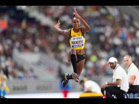 Jamaica's Shanieka Ricketts competing in the women's triple jump final at the IAAF World Championships at the Khalifa International Stadium in Doha, Qatar on Saturday, October 5, 2019. Ricketts, the reigning IAAF Diamond League champion in the women's triple jump, will not be in action at next season's Diamond League final as the discipline as been removed from that event list.