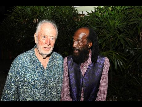 Chris Blackwell (left) supported the restoration of 'No Place Like Home', starring iconic Jamaican actor Carl Bradshaw (right).