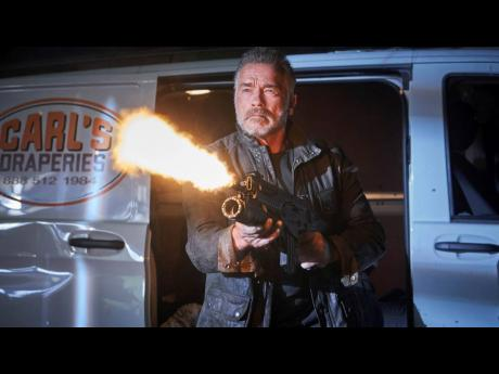 Arnold Schwarzenegger in a scene from 'Terminator: Dark Fate'.