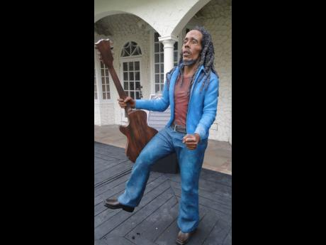 This Scheed Cole rendition of reggae legend Bob Markey is made of recycled materials.