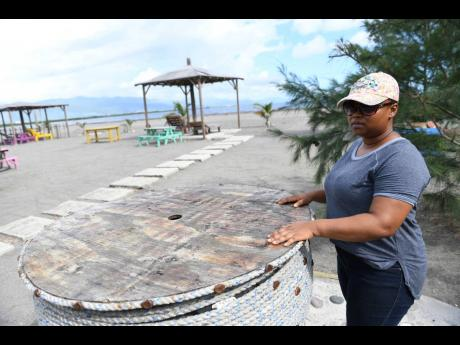 Tashnee Tomlinson, owner of the Beach View Restaurant and Bar in Port Royal.