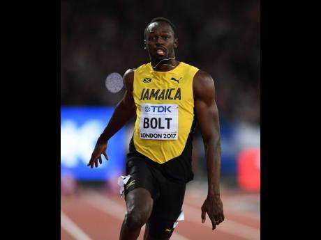 Jamaican track star Usain Bolt. File