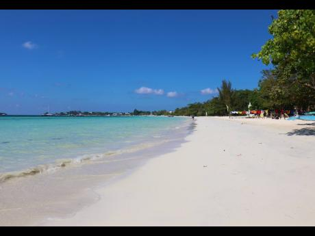 A section of the Seven-Mile Beach in Negril.