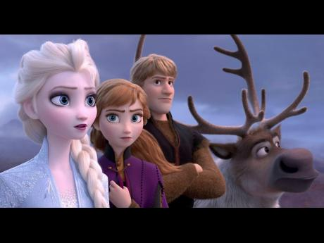 From left: Elsa, voiced by Idina Menzel; Anna, voiced by Kristen Bell; Kristoff, voiced by Jonathan Groff; and Sven star in 'Frozen 2'.