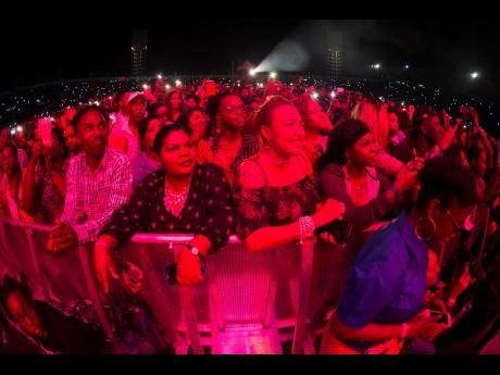A section of the audience at Buju Banton's Long Walk to Freedom Concert held at the The National Stadium in Kingston, on Sunday March 17. Gladstone Taylor/Multimedia Photo Editor