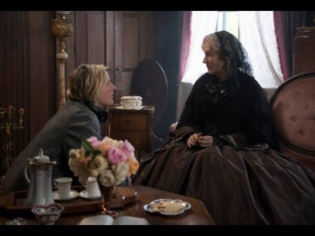 Writer-director Greta Gerwig (left) and actress Meryl Streep on the set of 'Little Women'.