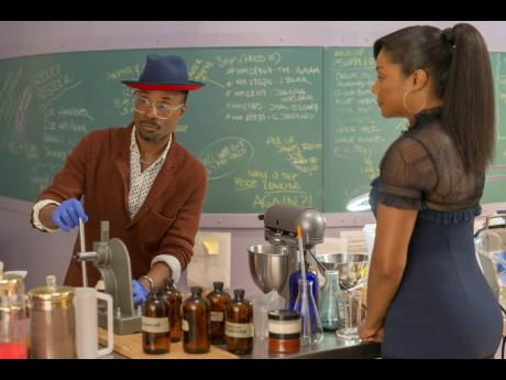 Billy Porter (left) and Tiffany Haddish in a scene from 'Like a Boss.'