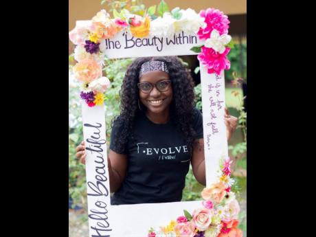 Founder of TamalciJ ministries showcases her EVOLVE shirt line at the Beauty Within Beauty Market on Saturday, January 25.