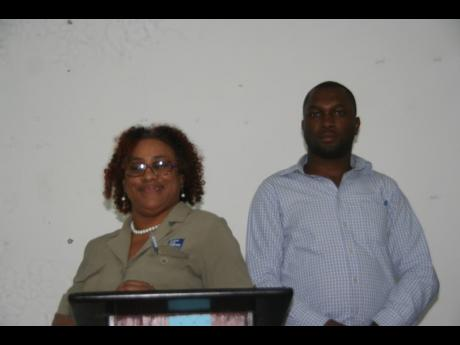 President of the Hanover Justices of the Peace Association, Sharmaine Suckoo-Samuels, and her newly elected vice-president, Andre Lawrence.