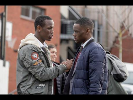 Timmy (Stephen Odubola) and Marco's (Michael Ward) friendship is tested by street war in 'Blue Story'.