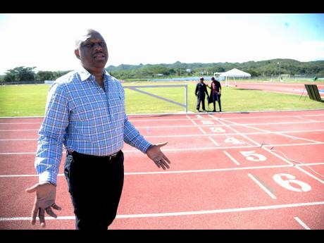 GC Foster College of Physical Education and Sport principal Maurice Wilson walks the running track on campus based in Spanish Town, St Catherine. The institution is responsible for the training of many of Jamaica's athletes, coaches and sporting administrators.
