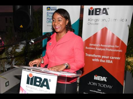 Annissa Thompson, president of the International Institute of Business Analysis, Kingston, Jamaica Chapter.
