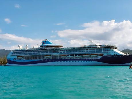 A TUI cruise ship docked in Montego Bay on Tuesday. Jamaica's cruise industry is bracing for fallout as the global novel coronavirus outbreak has triggered a strict health and travel history reporting protocol which has caused friction with at least one major cruise line.