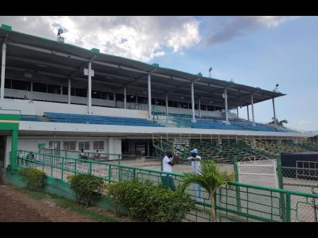 Empty grandstand on Tuesday, March 17, as horse racing was held at Caymanas Park without spectators due to concerns over the coronavirus disease. Racing has since been suspended indefinitely due to the disease.