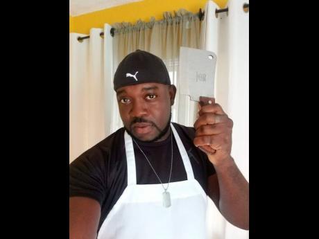 Social-media chef De'Rhone Campbell at work.