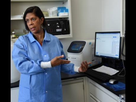 Dr Alison Nicholson, head of the Department of Microbiology at the University Hospital of the West Indies, explains how the Roche LightCycler works when testing samples for the novel coronavirus.