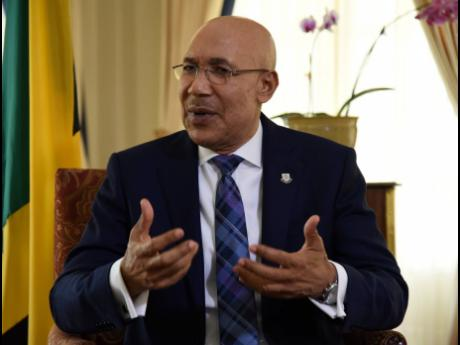 Governor General Sir Patrick Allen speaking with The Sunday Gleaner at King's House on Friday, May 8.
