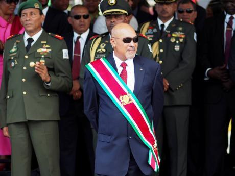 Suriname President Desire 'Desi' Delano Bouterse.