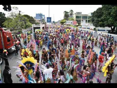 Patrons revel in the sounds of Xaymaca International carnival road march last year.