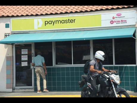 A Paymaster outlet is pictured on March 26, 2020.