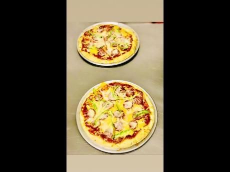 Pizzazz signature gourmet pepperoni pizza.
