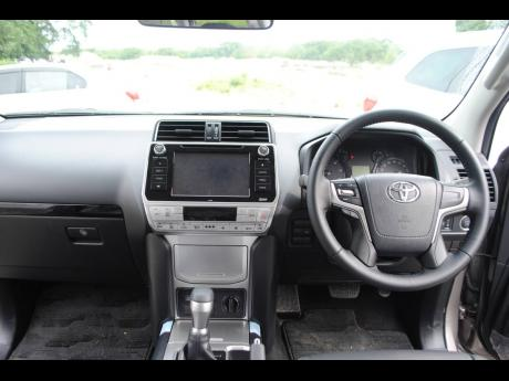 The interior of the 2020 Toyota Prado TX-L is focused on functionality, usability, and durability.