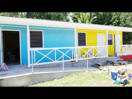 The four-unit classroom addition at the St Martin Primary/Infant School in St Mary.