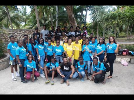 A group of students who participated in the Dream Jamaica summer programme.