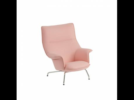 This photo courtesy of Knoll shows a soft rosy-peach tone lounge chair in the Knoll + Muuto Work From Home Collection. This Muuto Doze Lounge Chair has a hip 1970s Scandi vibe. Ice cream is one of summer's pleasures.