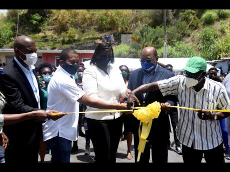 From left: Varden Downer, senior director at the National Works Agency; Floyd Green, state minister in the Ministry of Industry, Commerce, Agriculture and Fisheries; Juliet Holness, member of parliament for East Rural St Andrew; Edmund Bartlett, minister o